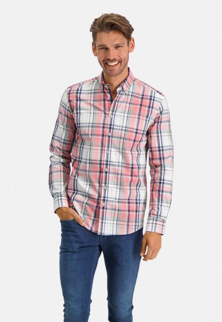 Chemise-à-carreaux---rose/cobalt