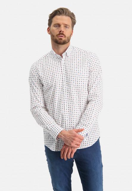 Chemise-à-regular-fit-et-poche-poitrine---brique/sablé