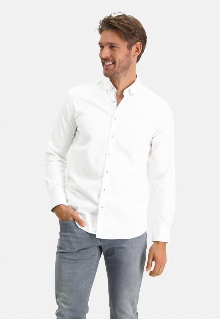 Chemise-en-coton-stretch---blanc-uni