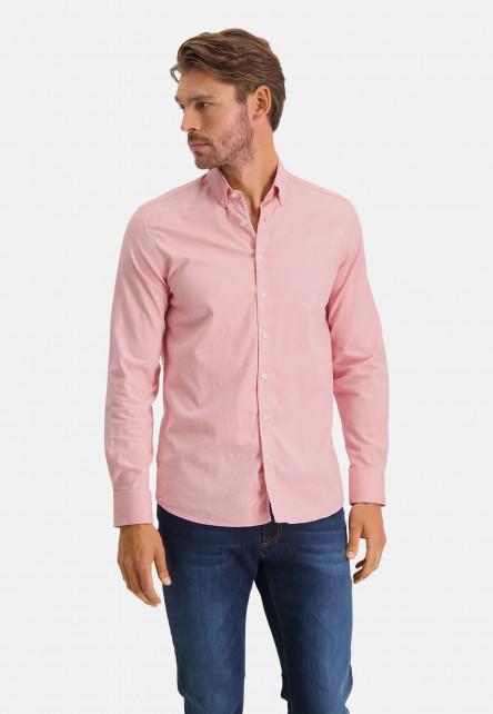 Chemise-en-coton-stretch---rose/blanc