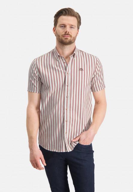 Chemise-à-rayures-et-regular-fit---blanc/brique
