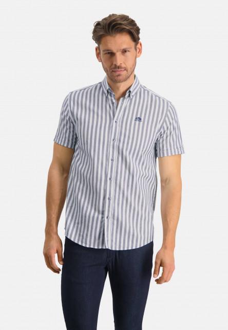 Chemise-à-rayures-et-regular-fit---blanc/cobalt