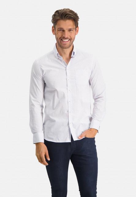 Chemise-à-regular-fit-et-col-boutonné---cobalt/brique