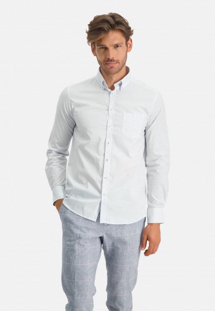 Chemise-à-regular-fit-et-col-boutonné---cobalt/bleu
