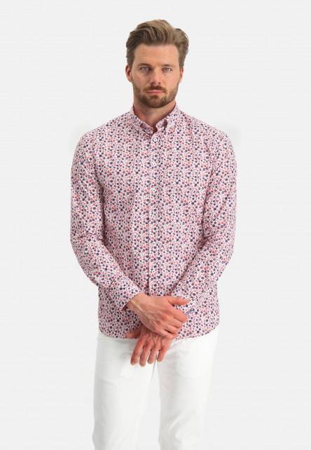 Chemise-à-imprimé---rose/bordeaux