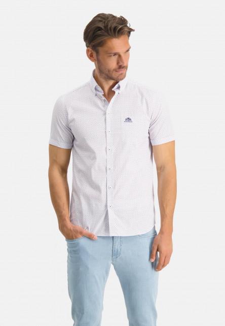 Chemise-à-manches-courtes-et-imprimé---cobalt/brique