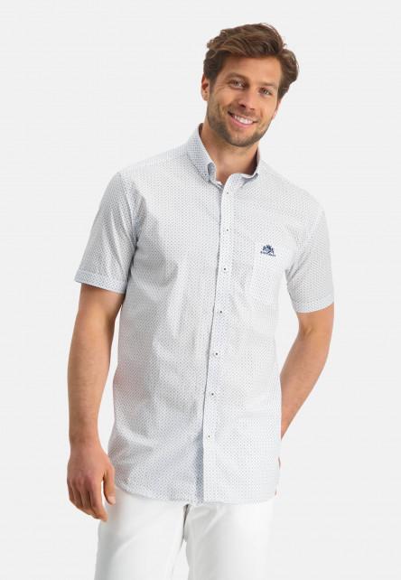 Chemise-à-manches-courtes-et-imprimé---cobalt/bleu