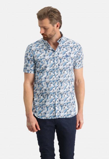 Chemise-à-imprimé-et-logo-sur-la-poitrine---gris-bleu/sablé