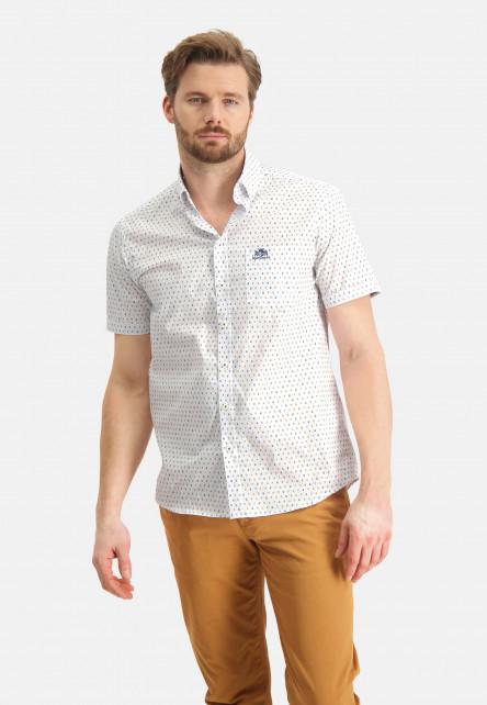 Chemise-à-regular-fit-et-imprimé---mango/gris-bleu
