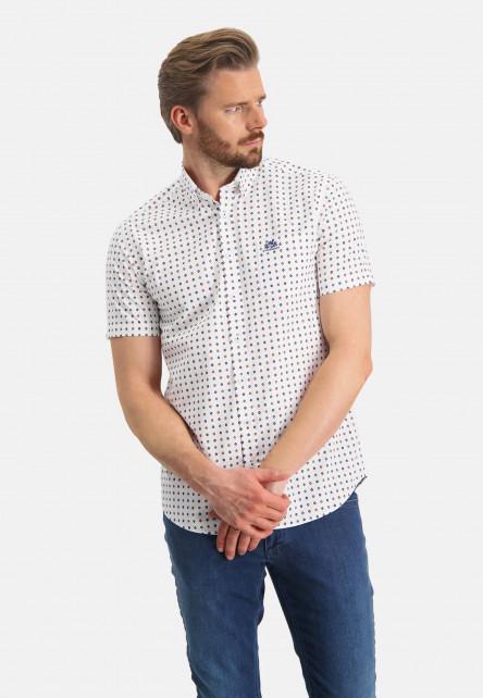 Chemise-à-imprimé-et-poche-poitrine---brique/sablé