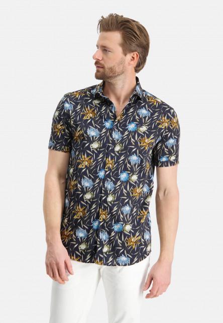 Chemise-à-cut-away---blue-foncé/mango