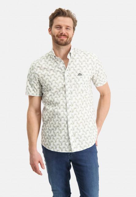 Chemise-à-poche-poitrine---/chlorophylle/blanc