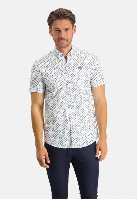 Chemise-à-regular-fit-et-col-boutonné---brique/cobalt