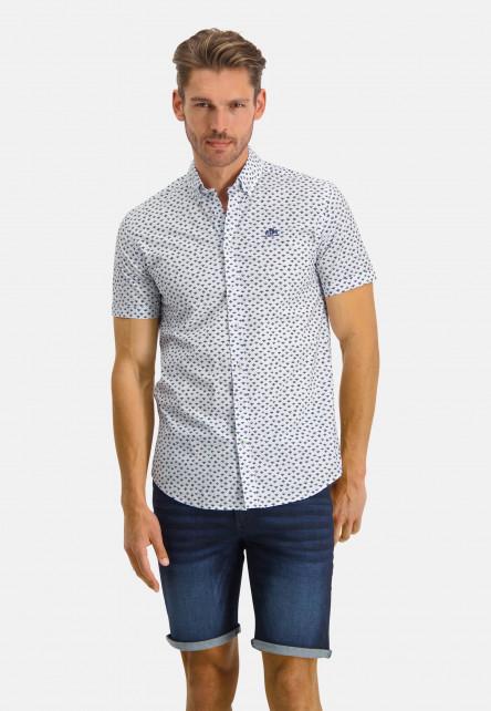 Chemise-à-regular-fit-et-col-boutonné---rose/cobalt