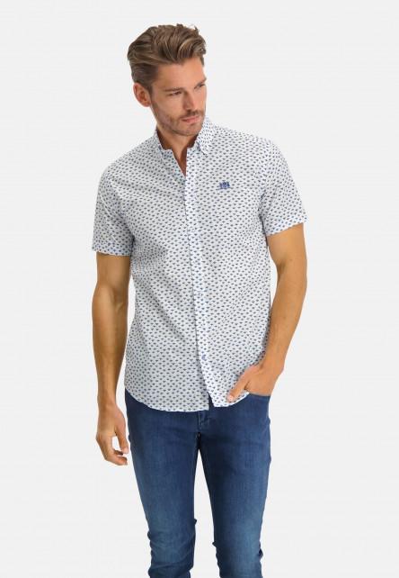 Chemise-à-regular-fit-et-col-boutonné---cobalt/sablé