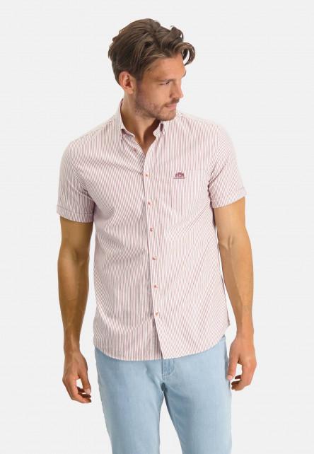 Chemise-regular-fit-à-rayures---blanc/brique