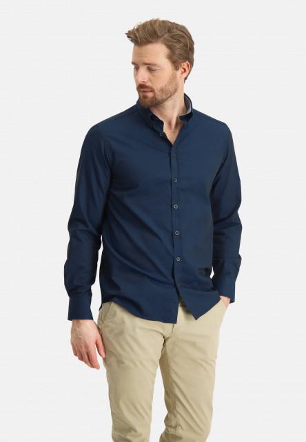 Chemise-Easy-Care-à-regular-fit---blue-foncé-uni