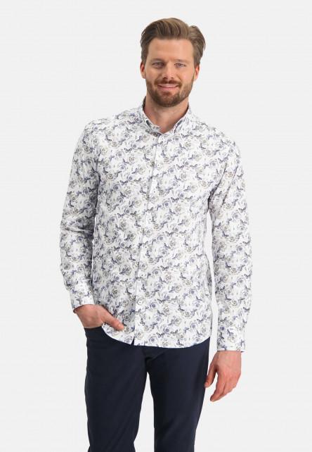Shirt-LS-Printed-Poplin---Ref-SS-11364---cobalt/sablé