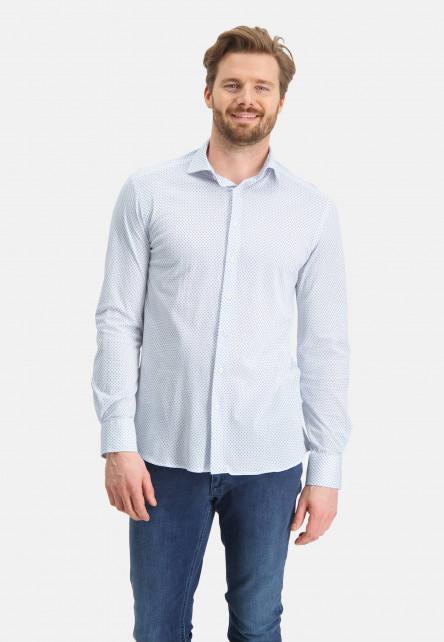 Chemise-à-imprimé-minimaliste---blanc/bleu