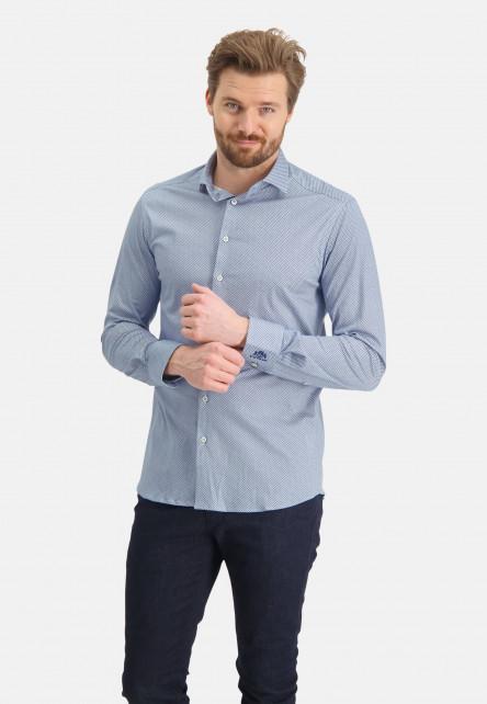 Chemise-à-regular-fit-et-cut-away---blanc/cobalt