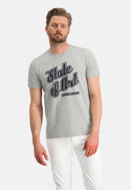 T-shirt-encolure-ronde-uni---gris-clair-monochrome
