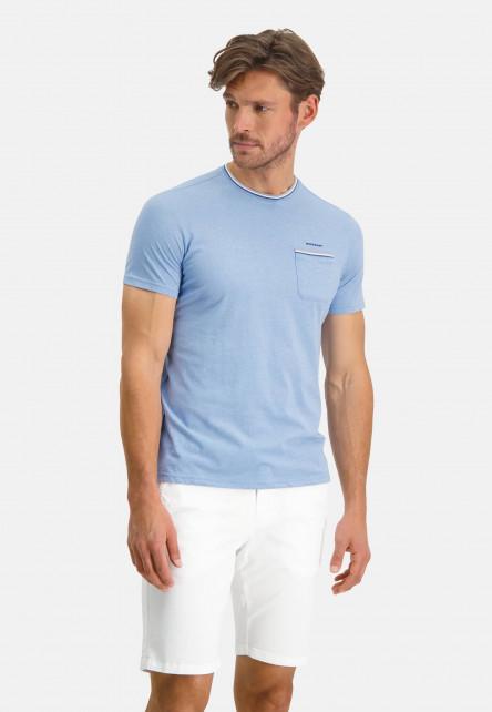 T-shirt-à-poche-poitrine---bleu/cobalt