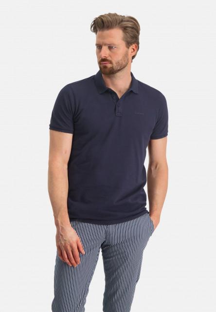 Polo-piqué-á-regular-fit---blue-foncé-uni