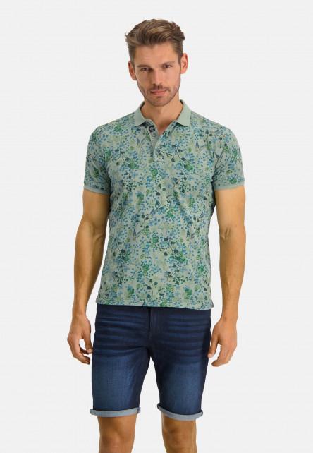 Poloshirt-Jersey-SS-Printed---/chlorophylle/cobalt