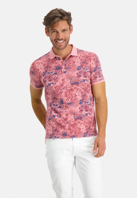 Polo-en-coton-BCI---rose/brique