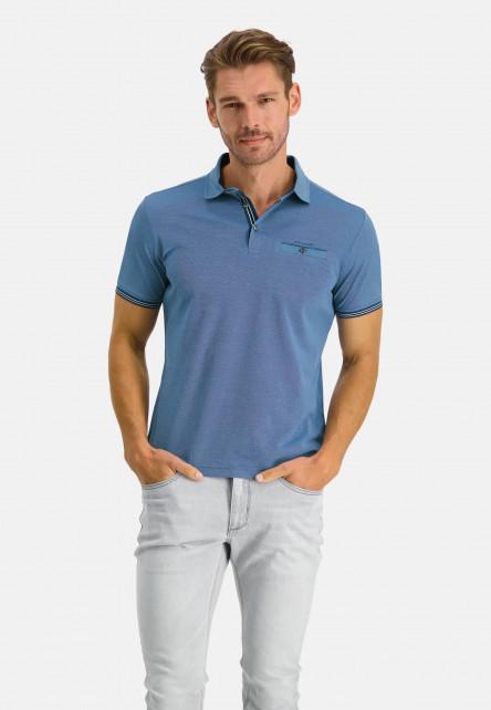 Polo-piqué-manches-courtes-uni---cobalt/bleu