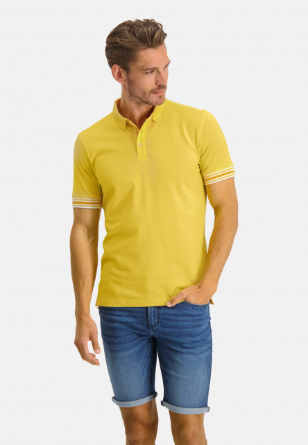 Polo-piqué-manches-courtes-uni---jaune-clairuni