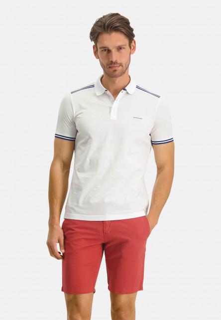 Polo-Jersey-manches-courtes-uni---blanc-uni