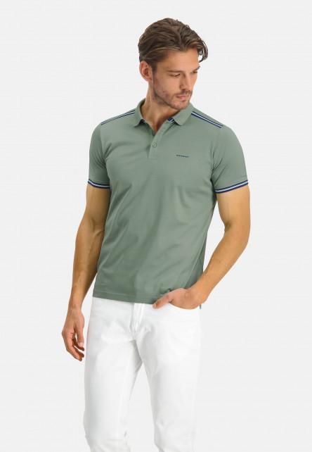Polo-Jersey-manches-courtes-uni---/chlorophylle-uni