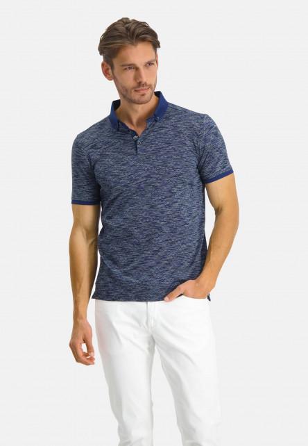 Polo-Jersey-manches-courtes-fantaisie---cobalt/blue-foncé