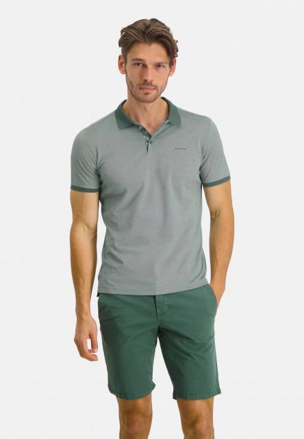 Polo-en-coton-mercerisé---emerald-green/greige
