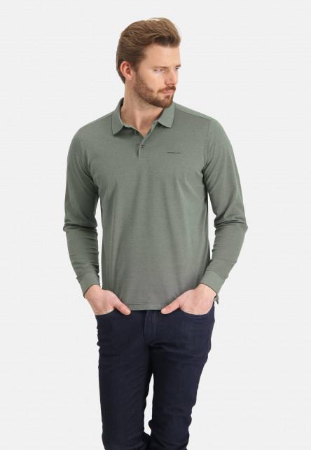 Polo-en-coton-mercerisé---chlorophylle/mousse