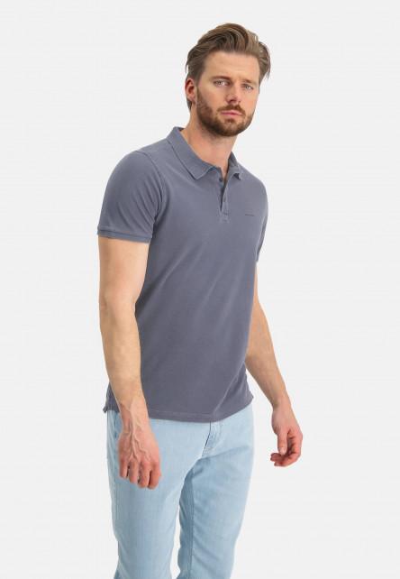 Polo-á-manches-courtes---blue-foncé-uni