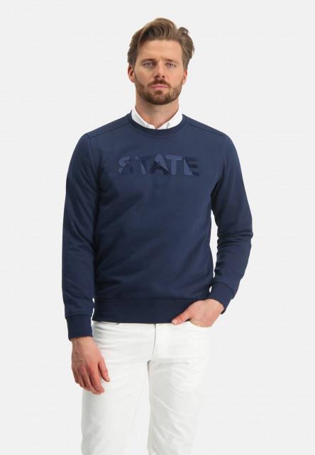 Sweat-shirt-à-artwork---blue-foncé-uni