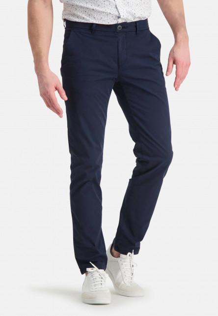 Chino-en-coton-stretch---blue-foncé-uni