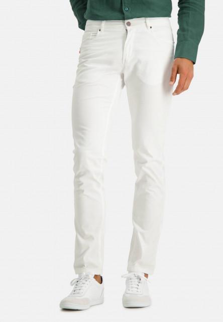 Pantalon-stretch-à-regular-fit---blanc-uni