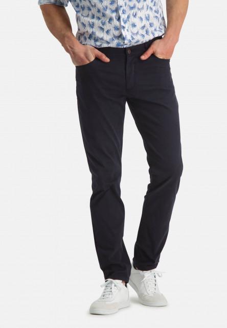 Pantalon-stretch-à-regular-fit---blue-foncé-uni