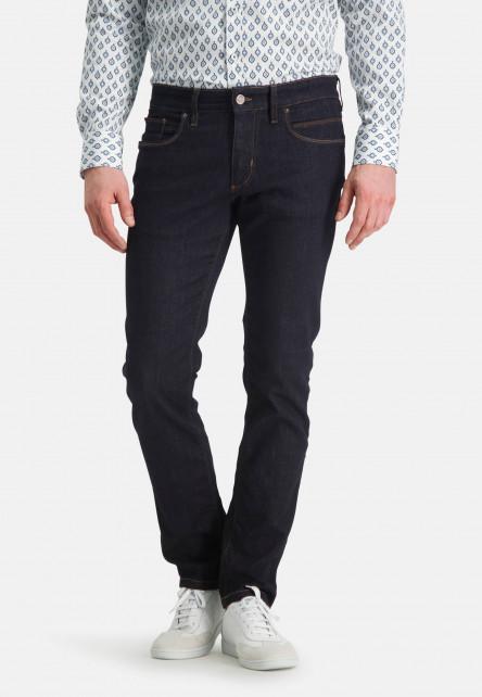 5-Pocket-jean-stretch---blue-foncé-uni