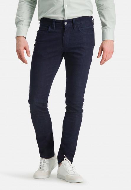 5-Pocket-jean-stretch-à-modern-fit---blue-foncé-uni