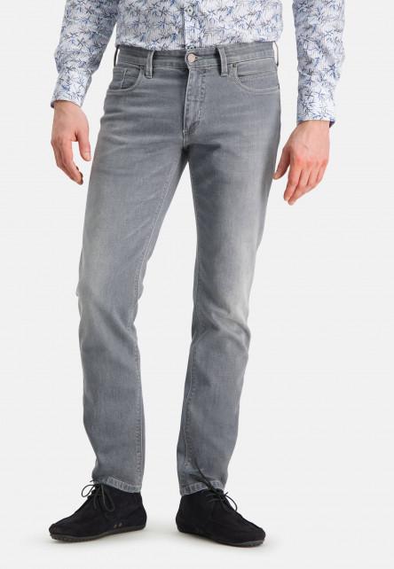 5-Pocket-jean-stretch-à-regular-fit---gris-moyen-uni