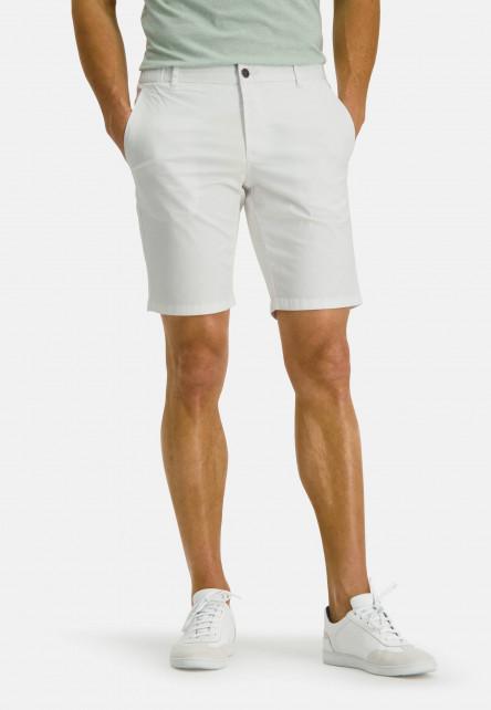 Short-de-style-chino---blanc-uni