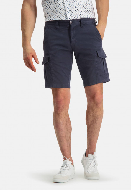 Short-de-style-cargo---blue-foncé-uni