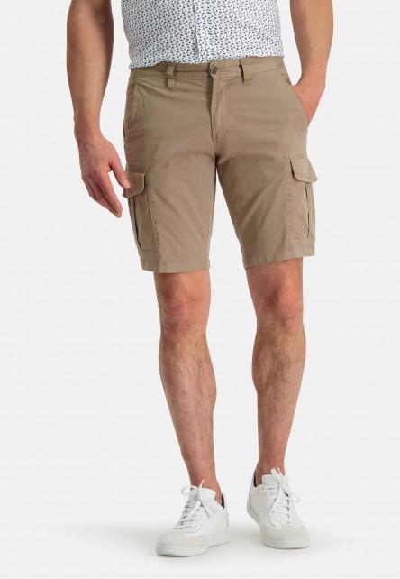 Short-de-style-cargo---vert-brun-uni