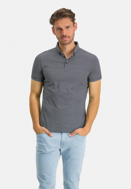 Modern-Classics-polo-en-coton---blue-foncé/blanc