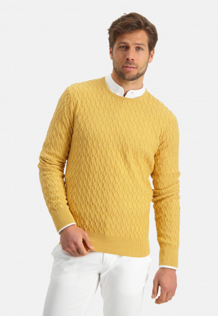 Modern-Classics-pull-à-encolure-ronde---jaune-clairuni