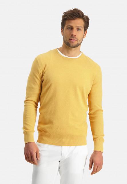 Modern-Classics-pull-en-coton-pima-mélangé---jaune-clairuni